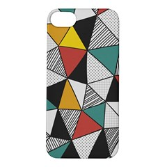 Colorful Geometric Triangles Pattern  Apple iPhone 5S/ SE Hardshell Case
