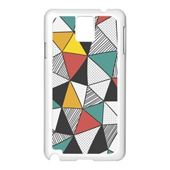 Colorful Geometric Triangles Pattern  Samsung Galaxy Note 3 N9005 Case (White)
