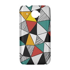 Colorful Geometric Triangles Pattern  HTC Desire 601 Hardshell Case