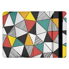 Colorful Geometric Triangles Pattern  Samsung Galaxy Tab Pro 12.2  Flip Case