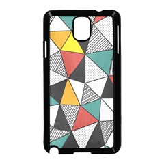 Colorful Geometric Triangles Pattern  Samsung Galaxy Note 3 Neo Hardshell Case (Black)