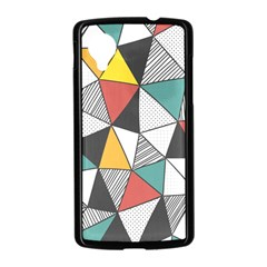 Colorful Geometric Triangles Pattern  Nexus 5 Case (Black)