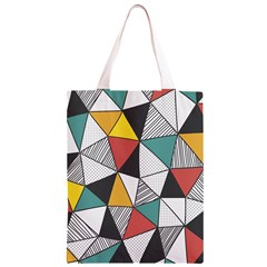 Colorful Geometric Triangles Pattern  Classic Light Tote Bag