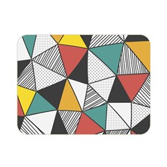 Colorful Geometric Triangles Pattern  Double Sided Flano Blanket (Mini)