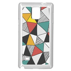 Colorful Geometric Triangles Pattern  Samsung Galaxy Note 4 Case (White)