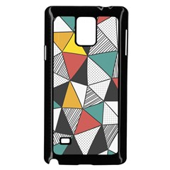 Colorful Geometric Triangles Pattern  Samsung Galaxy Note 4 Case (Black)