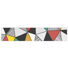 Colorful Geometric Triangles Pattern  Flano Scarf (Small)