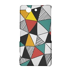Colorful Geometric Triangles Pattern  Sony Xperia Z3 Compact