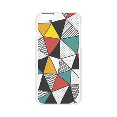 Colorful Geometric Triangles Pattern  Apple Seamless iPhone 6/6S Case (Transparent)