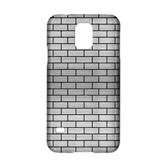 Brick1 Black Marble & Silver Brushed Metal (r) Samsung Galaxy S5 Hardshell Case