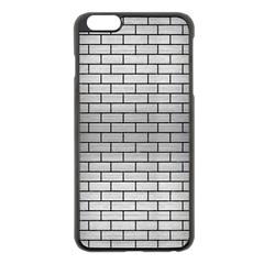 Brick1 Black Marble & Silver Brushed Metal (r) Apple Iphone 6 Plus/6s Plus Black Enamel Case