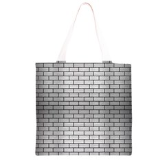 BRK1 BK MARBLE SILVER (R) Grocery Light Tote Bag