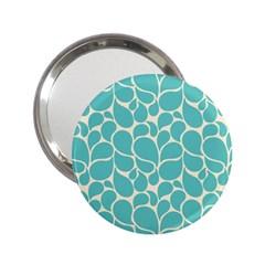 Blue Abstract Water Drops Pattern 2.25  Handbag Mirrors