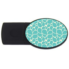 Blue Abstract Water Drops Pattern USB Flash Drive Oval (1 GB)