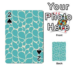 Blue Abstract Water Drops Pattern Playing Cards 54 Designs