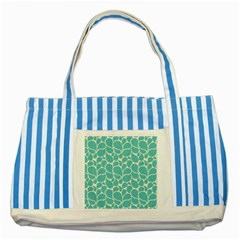 Blue Abstract Water Drops Pattern Striped Blue Tote Bag