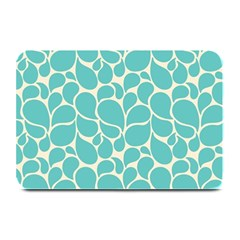 Blue Abstract Water Drops Pattern Plate Mats
