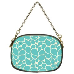 Blue Abstract Water Drops Pattern Chain Purses (Two Sides)