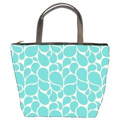 Blue Abstract Water Drops Pattern Bucket Bags