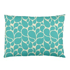 Blue Abstract Water Drops Pattern Pillow Case