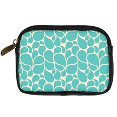 Blue Abstract Water Drops Pattern Digital Camera Cases