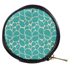 Blue Abstract Water Drops Pattern Mini Makeup Bags