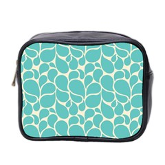 Blue Abstract Water Drops Pattern Mini Toiletries Bag 2-Side