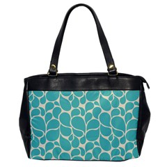 Blue Abstract Water Drops Pattern Office Handbags