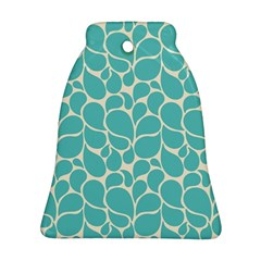 Blue Abstract Water Drops Pattern Bell Ornament (2 Sides)