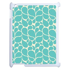Blue Abstract Water Drops Pattern Apple iPad 2 Case (White)