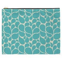 Blue Abstract Water Drops Pattern Cosmetic Bag (xxxl)