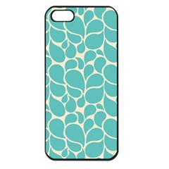 Blue Abstract Water Drops Pattern Apple iPhone 5 Seamless Case (Black)