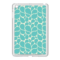 Blue Abstract Water Drops Pattern Apple iPad Mini Case (White)