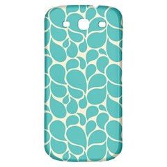 Blue Abstract Water Drops Pattern Samsung Galaxy S3 S III Classic Hardshell Back Case