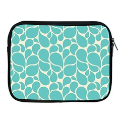 Blue Abstract Water Drops Pattern Apple iPad 2/3/4 Zipper Cases