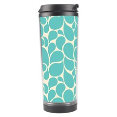 Blue Abstract Water Drops Pattern Travel Tumbler