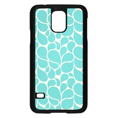 Blue Abstract Water Drops Pattern Samsung Galaxy S5 Case (Black)