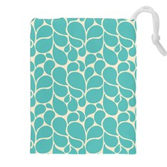 Blue Abstract Water Drops Pattern Drawstring Pouches (xxl)