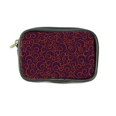 Seamless Orange Ornaments Pattern Coin Purse