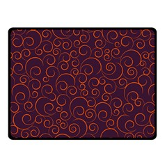 Seamless Orange Ornaments Pattern Fleece Blanket (small)