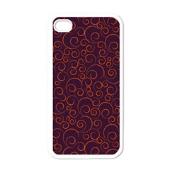 Seamless Orange Ornaments Pattern Apple iPhone 4 Case (White)