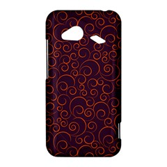 Seamless Orange Ornaments Pattern HTC Droid Incredible 4G LTE Hardshell Case