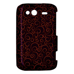 Seamless Orange Ornaments Pattern HTC Wildfire S A510e Hardshell Case