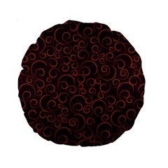 Seamless Orange Ornaments Pattern Standard 15  Premium Round Cushions