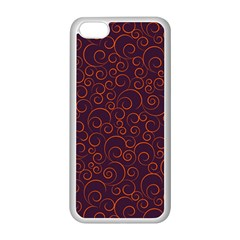 Seamless Orange Ornaments Pattern Apple iPhone 5C Seamless Case (White)