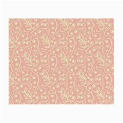 Girly Pink Leaves And Swirls Ornamental Background Small Glasses Cloth