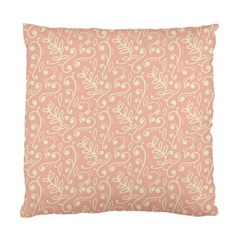 Girly Pink Leaves And Swirls Ornamental Background Standard Cushion Case (Two Sides)