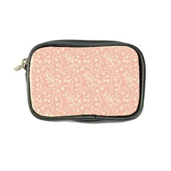 Girly Pink Leaves And Swirls Ornamental Background Coin Purse