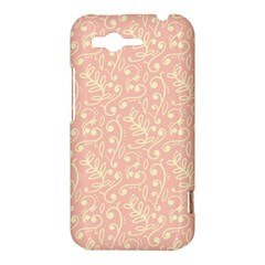 Girly Pink Leaves And Swirls Ornamental Background HTC Rhyme