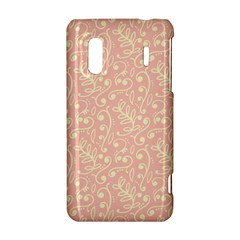 Girly Pink Leaves And Swirls Ornamental Background HTC Evo Design 4G/ Hero S Hardshell Case